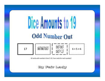 Dice Amounts to 19 - Odd Number Out