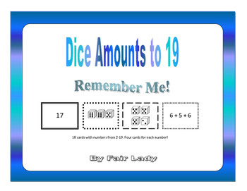Dice Amounts to 19 - Remember Me!