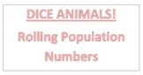 Dice Animals Worksheet: Graphing Population Data