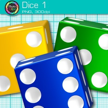 Rainbow Dice Clip Art {Math Manipulatives for Center Activities and Games} 1