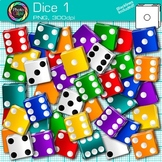 Rainbow Dice Clip Art {Math Manipulatives for Center Activ