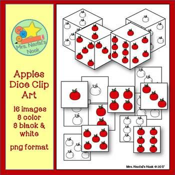 Dice Clip Art - Apples