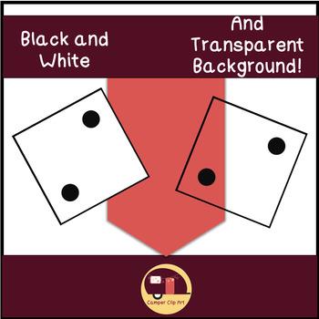 Dice Clip Art, Black and White Dice {CU - ok!}