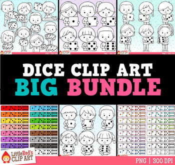 Dice Clip Art Bundle