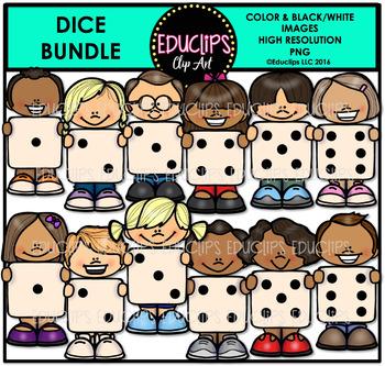 Dice Clip Art Bundle {Educlips Clipart}