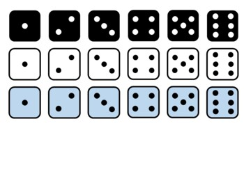 Dice Clip Art and Dice Nets for Class Manipulatives Large, Medium, Small Nets