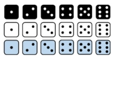 Dice Clip Art and Dice Nets for Class Manipulatives Large,