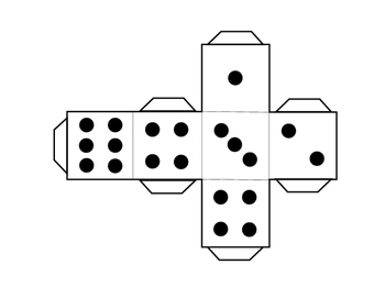 Dice Clip Art and Nets Large, Medium Small