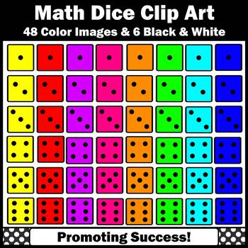 Dice Clip Art for Math Dice Games, Centers, Activities Colorful Die Clipart  SPS
