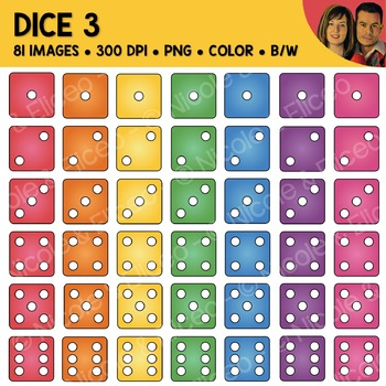 Digital Graphics - Dice Clipart 2
