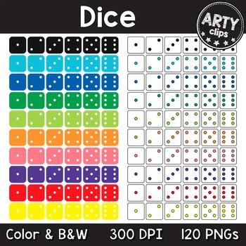 Dice Clipart Math MEGA BUNDLE (120 PNGs) {Arty Clips}