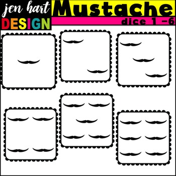 Dice Clipart {Mustaches}