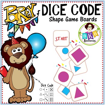 Dice Code Shape Game ● Shapes ● Math Centers
