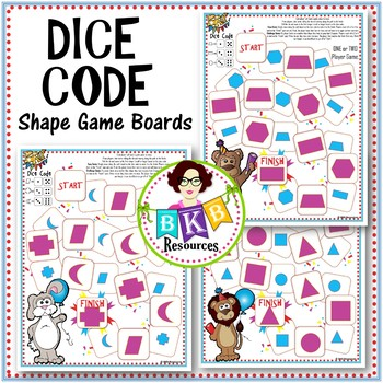 Shape Game ● Dice Code Shape Game ● Math Center