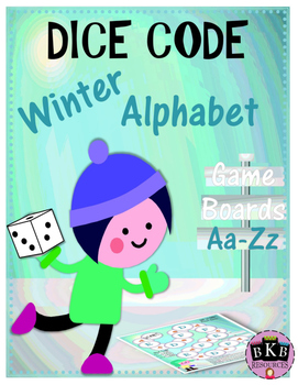 Dice Code Winter Alphabet Game Boards