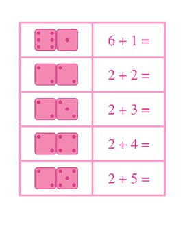 Dice Concentration Pink Game
