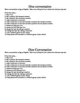 Dice Conversation