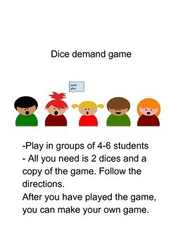 Dice Demand Game