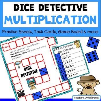 Multiplication Games - Dice Detective Multiplication