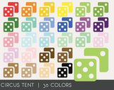 Dice Digital Clipart, Dice Graphics, Dice PNG, Rainbow Dic