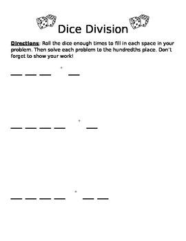Dice Division