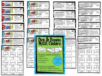 Dice & Domino Math Centers