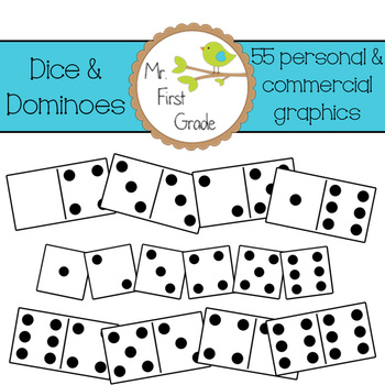 Dice & Dominoes [55 Images for Commercial Use]
