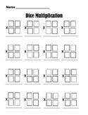 Dice Double Digit Multiplication