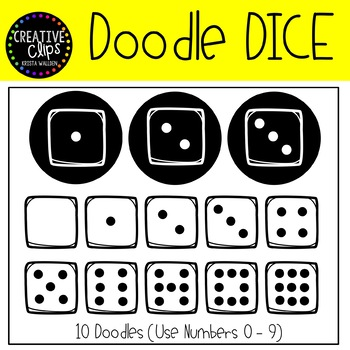 Dice FONT {Creative Clips Clipart}