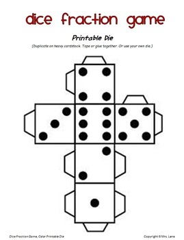 Dice Fraction Game