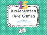 Dice Fun... 15 games for Kindergarten