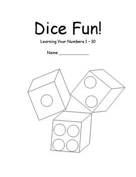 Dice Fun - Bingo Dabber Math Numbers 1 - 10 PLUS GAME!