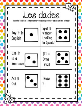 Dice Game Bundle for ANY Verb Tense or Vocabulary