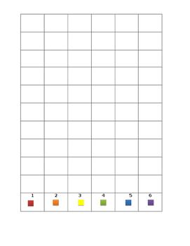 Dice Game/Color Graph Lesson Plan
