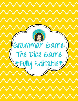EDITABLE Dice Game - Conjugation Practice (Any Language)