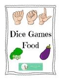 ASL Dice Game - Food - American Sign Language