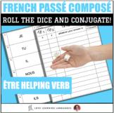 Dice Game - French Passé Composé with Être - Jeu de Dés
