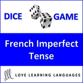 Dice Game - French Imperfect Tense - l'Imparfait - Jeu de Dés