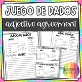 Spanish Adjective Agreement Dice Activity