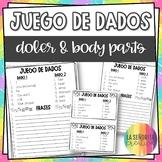 Spanish Body Parts Conjugation Dice Activities