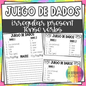 Dice Game (Juego de Dados) - Irregular Verbs in the Present Tense
