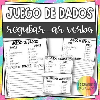 Dice Game (Juego de Dados) - Regular -ar Verbs