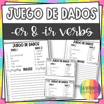 Dice Game (Juego de Dados) - Regular -er and -ir Verbs