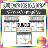 Dice Game (Juego de Dados) - Stem-Changing Verbs in the Present Tense BUNDLE