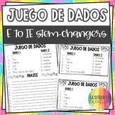 E to IE Stem-Changing Verbs Conjugation Dice Activity