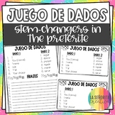 Dice Game (Juego de Dados) - Stem-Changing Verbs in the Preterite Tense