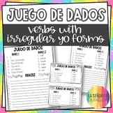 Spanish Irregular Yo Verbs Conjugation Dice Activity
