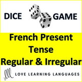 Dice Game - Regular and Irregular French Verbs in Present