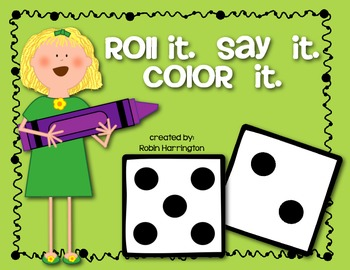 dice game roll it say it color it supports kindergarten common core - Color Games For Kindergarten