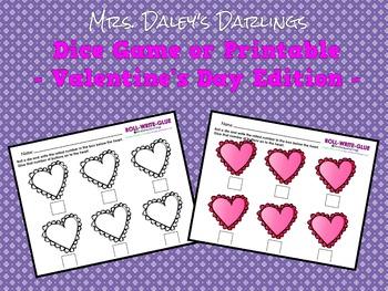 Dice Game - Valentine's Day
